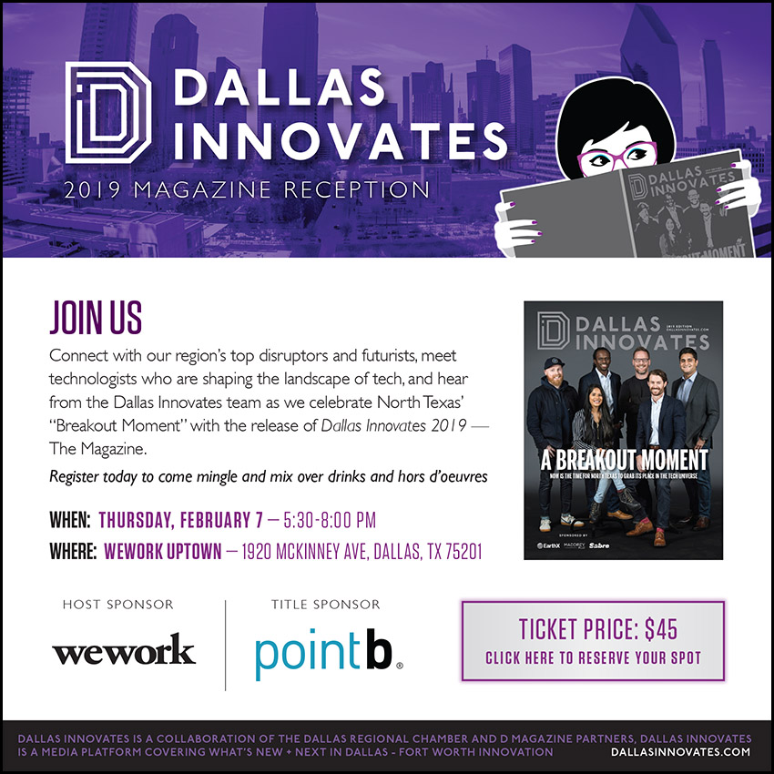 Dallas Innovates 2019 Magazine Reception